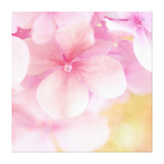 Pink Hydrangea Dream- Baby Nursery Wrapped Canvas Stretched Canvas Prints