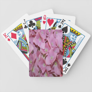 Pink Hydrangea Flower Bicycle Playing Cards