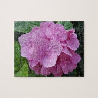 Pink Hydrangea Flower Jigsaw Puzzle
