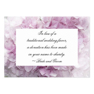 Pink Hydrangea Flower Wedding Charity Favor Card Pack Of Chubby Business Cards
