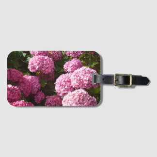 Pink Hydrangea flowers Luggage Tag