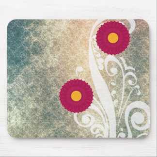 Pink Hydrangea Flowers Vintage Mouse Pads