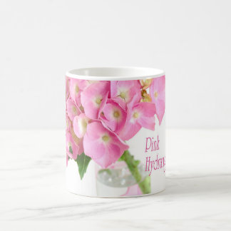 Pink Hydrangea in a Glass Vase Mugs