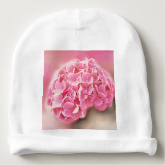 pink hydrangea in bloom baby beanie