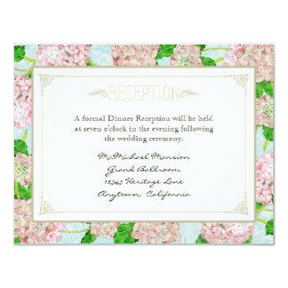 Pink Hydrangea Lace Floral Formal Elegant Weddings 11 Cm X 14 Cm Invitation Card