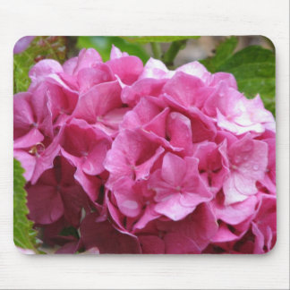 Pink Hydrangea Mouse Pad