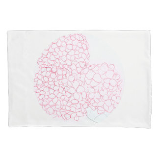 Pink Hydrangea Pillowcase