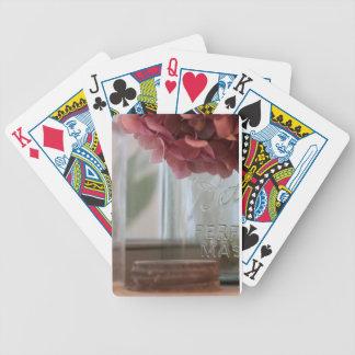 Pink Hydrangea Poker Deck