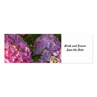 Pink Hydrangea Save the Date Business Card Templates