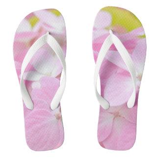 Pink Hydrangea Thongs