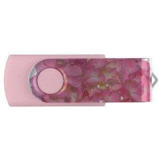 Pink Hydrangea USB Flash Drive