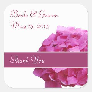 Pink Hydrangea Wedding Stickers