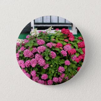Pink hydrangeas, Holland 6 Cm Round Badge