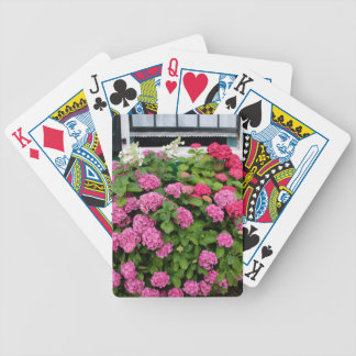 Pink hydrangeas, Holland Bicycle Playing Cards