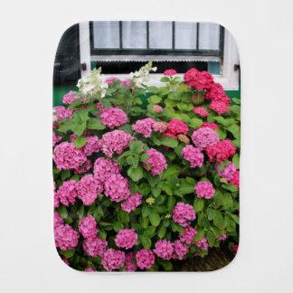 Pink hydrangeas, Holland Burp Cloth