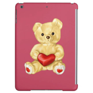Pink Hypnotizing Cute Teddy Bear Cover For iPad Air