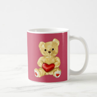 Pink Hypnotizing Cute Teddy Bear Classic White Coffee Mug