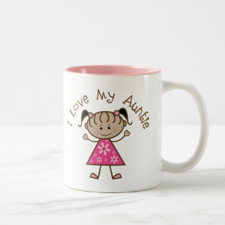 Pink I Love My Aunt Gift Two-Tone Coffee Mug