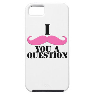 Pink I Moustache You a Question iPhone 5 Cases