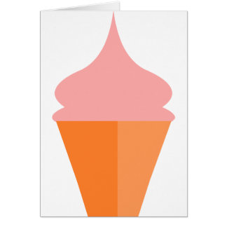 Pink Ice Cream Card