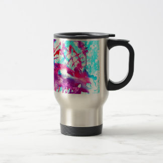 Pink ice cream in Blue water Coffee Mugs
