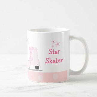 Pink Ice Skates - Star Skater Coffee Mug