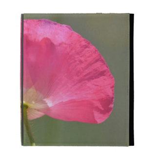 Pink Iceland Poppy Flower iPad Folio Covers
