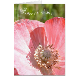 Pink Iceland Poppy III Card