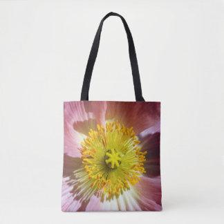 Pink Icelandic Poppy Tote Bag