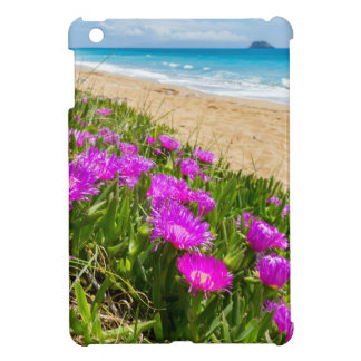 Pink icicle plants at coast in Greece iPad Mini Cases