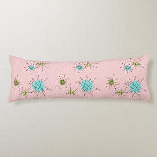 Pink Iconic Atomic Starbursts Body Pillow