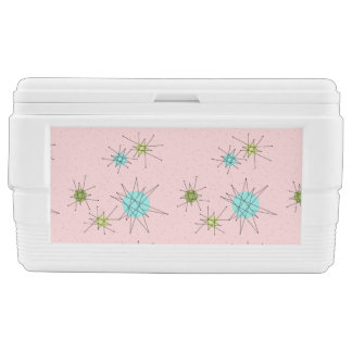 Pink Iconic Atomic Starbursts Chest Cooler
