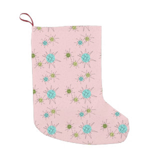Pink Iconic Atomic Starbursts Christmas Stocking