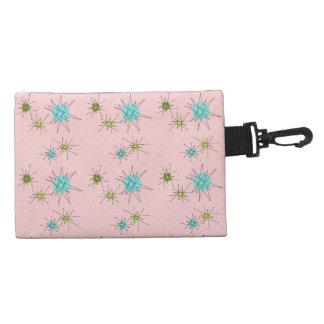 Pink Iconic Atomic Starbursts Clip On Bag