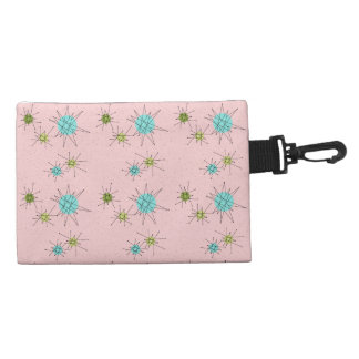 Pink Iconic Atomic Starbursts Clip On Bag Accessory Bags