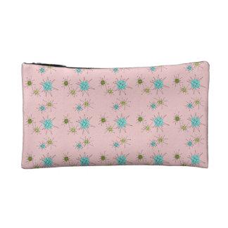 Pink Iconic Atomic Starbursts Cosmetic Bag