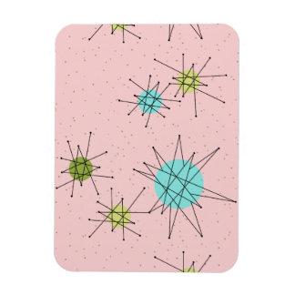 Pink Iconic Atomic Starbursts Flexible Magnet