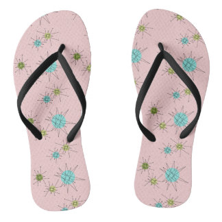 Pink Iconic Atomic Starbursts Flip Flops