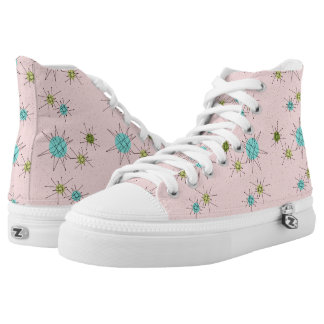 Pink Iconic Atomic Starbursts High Top Shoes