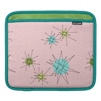 Pink Iconic Atomic Starbursts iPad Sleeve