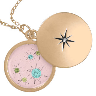 Pink Iconic Atomic Starbursts Necklace