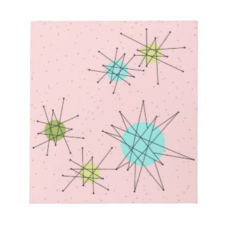 Pink Iconic Atomic Starbursts Notepad