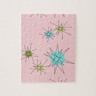 Pink Iconic Atomic Starbursts Puzzle