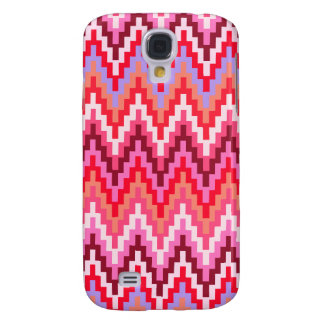Pink Ikat Chevron Geometric Zig Zag Stripe Pattern Samsung Galaxy S4 Cases