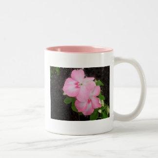 Pink Impatiens Flower Mug