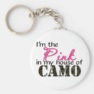 Pink In My House Of Camo Key Ring