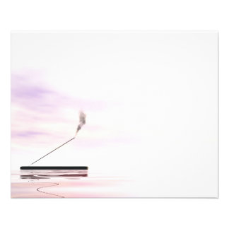 Pink incense 11.5 cm x 14 cm flyer