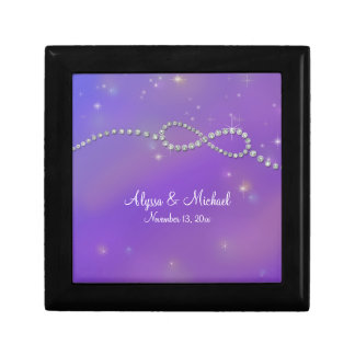Pink Infinity Symbol Sign Infinite Love Twinkling Small Square Gift Box
