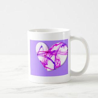 Pink Ink Heart Basic White Mug