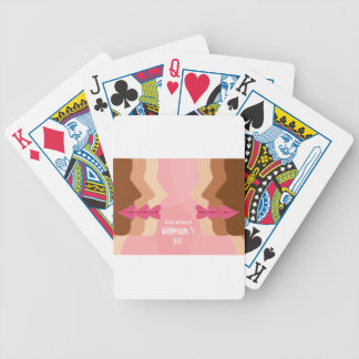 pink international womens day bicycle playing cards